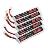 5Pcs URUAV 3.8V 300mAh 40/80C 1S HV 4.35V PH2.0 Lipo Battery for Happymodel Mobula6 Eachine TRASHCAN Snapper6 7 Mobula7