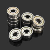 Machifit 10pcs 626ZZ 6x19x6mm Steel Sealed Shielded Deep Groove Ball Bearing