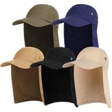 Men Women Sun Protection Cape Cap Fisherman Sport Hat