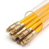 10Pcs 1Mx3mm Кабель для кабеля с кабелем для стекловолокна Провод Набор Монтажный стержень с коаксиальным электрическим кабелем