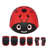 7Pcs/Set LANOVA Children Sport Protective Gear Set Kids Cycling Roller Skateboard Helmet+Knee Elbow Pads+Wrist Protector for Riding Skating Scooting Cycling