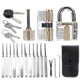 25Pcs Locksmith Supplies Tool Lock Picks Set Key Removal Broken Key Extractor
