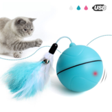 Yooap Creative Cat Toys Interactive Automatic Rolling Ball for Dogs Smart LED Flash Cat Toys Electronic Dog Toys
