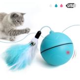 Yooap Creative Кот Toys Интерактивный автоматический шарик для собак, как видно по телевизору Smart LED Flash Кот Toys Электронные игрушки для собак