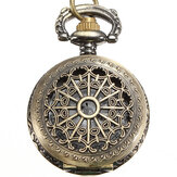 DEFFRUN Vintage Steam Punk Quartz Bronze Pocket Watch