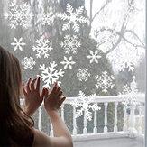 Adesivos de parede de floco de neve de Natal removível adesivo estático de PVC adesivos de parede para escritório doméstico decoração de vidro