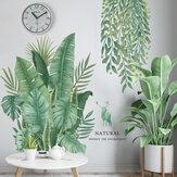 Folhas verdes Adesivos de parede para quarto Sala de estar Sala de jantar Cozinha Kids Room DIY Decalques em parede de vinil Murais de porta