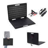 60W 18V 3.3A Portable Folding Solar Panel Battery Bag with Cables for Outdoor Work