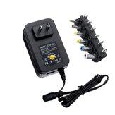 30W Regulowany zasilacz 3 / 4,5 / 5/6 / 7,5 / 9 / 12V AC DC Uniwersalna ładowarka do paska LED US