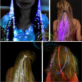 Flash LED Hair Braid 40CM Dekorative Valentines Gave Party Light Up Optic Fiber Extension Barrette
