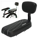 BIKIGHT Black Bicycle Comfort Gel Bike Seat Pad Cushion Cover Back Rest 13'' Wide Saddle