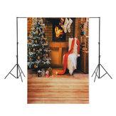 5x7ft árvore de natal cadeira branca meia lareira fotografia backdrop studio prop fundo