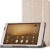 Tri-fold ficar estojo de couro pu para Huawei MediaPad tablet m2