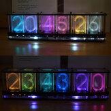 Geekcreit®アップグレードBoldfacedWord Imitate Glow Clock Full Color RGB Glow Tube Clock LED Music Spectrum Kit DS3231