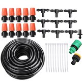 Adjustable Water Misting Cooling Irrigation System Kit Tubing Hose 5M/8M/10M/15M/20M/25M with Mist Nozzle Sprinkler