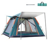 215x215x142cm 4 Person Automatic Spring Camping Tent Windproof Waterproof Sun Shelters 5 Window Ventilation Canopy