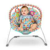 Baby Cradling Bouncer Seat Baby Swing Chair with Vibrating and Removable Toy Bar for 0-12 Months Newborn