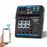 Drembo 4-kanałowa przenośna cyfrowa konsola miksera audio z bluetooth z kartą dźwiękową USB 48V Phantom Zasilanie do nagrywania DJ PC