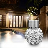 Solar Hanging LED Plastic Ball Light Bulb Colorful / Pure White Outdoor Garden Yard Path Landscape Decor