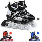 Унисекса регулируемые четыре мигающие колеса коньков обувь износостойкой Rollerblade ботинки конька