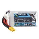 CODDAR 7.4V 550mAh 2S90C高放電リポバッテリーXT30for iFlight Cinebee 75HD Cinewhoop