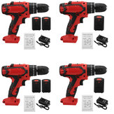 21V Cordless Electric Drill Screwdriver Impact Function Rechargeable Drill Tool W/ 1/2pc Battery