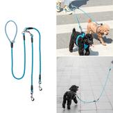 Jordan & Judy Double Head Hondenriem Touw Van Xiaomi Youpin 55kg Trekkracht 4 standen Reflecterende loopband voor honden Halsband Hondenbenodigdheden