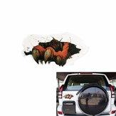 3d simulado etiqueta engomada del coche fantasma pata pata terribles arañazos estereoscópicas calcomanía resistente al agua 29x1 20x19cm