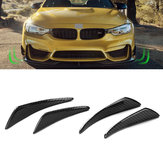 Real Carbon Fiber Side Fins Canards Auto Stickers 4PCS voor Mercedes-Benz / BMW / Audi / Lexus