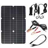 100W 18V Solar Panel Monocrystalline Silicon Battery Charger Kit for Cycling Climbing Hiking Camping
