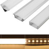 LUSTREON 45CM Estilo de U/V/YW Titular de Canal de Aluminio para LED Barra de Tira Rígida Lámpara para Gabinete
