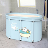 Portable Adult Thickened Folding Bathtub Household Large Bathtub Steaming Room Sauna Bath Barrel With Lid
