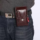 Homens Retro Faux Leather Cintura Bolsa Telefone Bolsa