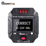 Mustool MT10S/MT10E Socket Outlet Tester Intelligent Detection Display Voltage Frequency RCD Tester