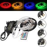 DC12V 5M 60W SMD5050 RGB impermeabile LED Strip Light + Controller WiFi + remoto Control + Adapter