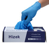 Hizek 100Pcs Disposable Nitrile Gloves Latex Free Working Cleaning Gloves Soft Industrial Gloves