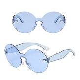 Women Summer Colorful Round Frame Sun Glassess Outdooors Uv Protection Glasses