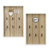 Home Key Vintage 6 Keys Rack Hook Wooden Wall Decorations Organize Holder Gift