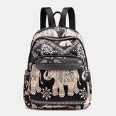 Women Casual Backpack Travel Bag Animal Flower Printed Bag