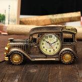 Simülasyon Vintage Araba Alarm Saat Çok İşlevli Kalem Vazo Antik Araba Model Yaratıcı Dekorasyon