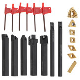 Machifit 7pcs 12mm Shank Lathe Boring Bar Turning Tool Holder Set dengan Sisipan Karbida