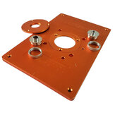 300mm Trimming Machine Flip Plate Aluminum Router Table Insert Plate with Bushing and Cover for Electric Wood Milling Guide Table
