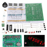 3 Adet DIY 6 Dijital LED Elektronik Saat Kit 9V-12V AT89C2051