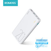 ROMOSS Sense 6  74Wh 20000mAh Power Bank 18W PD3.0 QC3.0 Snel opladen Externe batterijvoeding voof iPhone 12 Pro Max voof Samsung Galaxy Note S20 ultra Huawei Mate40 OnePlus 8 Pro