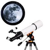 Telescopio astronomico LUXUN LX-50080 20/50/60/150X HD Monoculare spaziale ad alto ingrandimento con zoom rifrangente