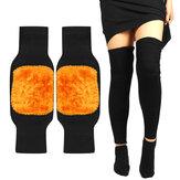 Rodilleras térmicas de lana de cachemira, rodilleras térmicas de invierno para piernas, Legging deportivo cálido, manga de compresión, almohadilla de soporte