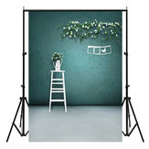 3x5ft Green Wall White Vase Indoor Fotografia Background Backdrop Studio Prop