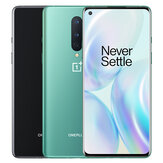 OnePlus 8 5G Global Rom 6,55 tommer FHD + 90Hz Fluid Display NFC Android10 4300mAh 48MP tredobbelt bagkamera 12 GB 256 GB Snapdragon 865 Smartphone