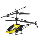2CH Fall Resistant Remote Control Mini Helicopter with LED Light for Children Outdoor Toys