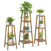 2/3/4 Tier Flower Pot Stand Houten Indoor Plant Tuin Planter Plank Houten Rack